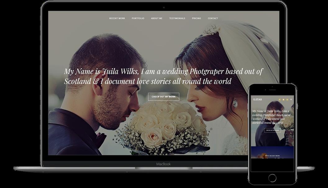 網頁設計 Onepage Website Demo-07-Wedding Photography
